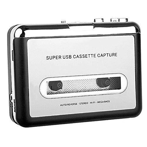 Kassettenspieler, Prodico Kassetten auf MP3 Konverter mit Kopfhörer, kompatibel mit Laptop und PC -