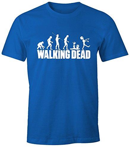 Herren T-Shirt - Walking Dead Zombie Revolution - Comfort Fit MoonWorks® Royal