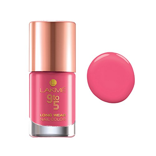 Lakme 9 to 5 Long Wear Nail Color, Rose Rush, 9 ml
