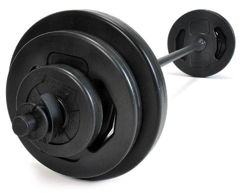 Pumpset 20 kg Fitness Gewichte Langhantel Set Hantelset Ausdauer Krafttraining