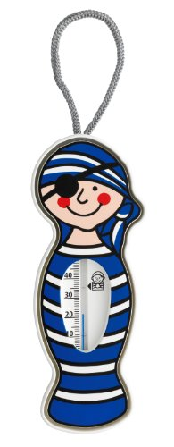 TFA Dostmann Pirat analoges Badethermometer, Temperaturkontrolle beim Baden, mehr Sicherheit für Babys und Kinder