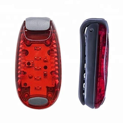Leuchtanhänger Clip-On LED Blinklicht - Rot 2 Stück - für Hunde Sicherheitslicht Set Sicherheit Licht mit Batterien
