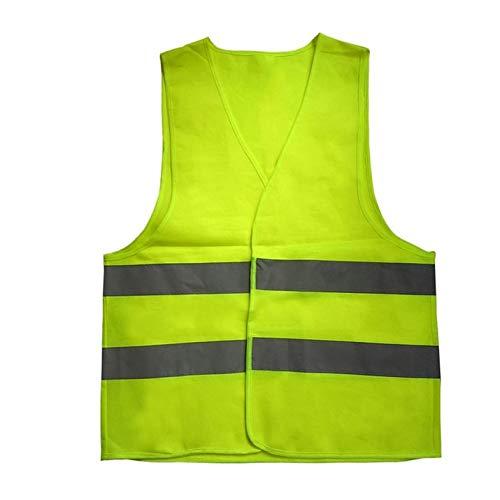CamKpell High Visibility Reflektierende Fluoreszierende Weste Outdoor-Sicherheit Kleidung Laufwettbewerb Weste Sicheres Licht-Reflektierende Lüften Weste -