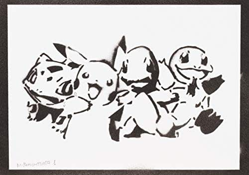 Poster Pokemon Handmade Graffiti Street Art - Artwork