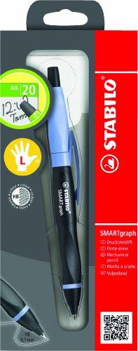Ergonomischer Druck-Bleistift mit Radiergummi - STABILO SMARTgraph in schwarz/lila - Härtegrad HB -...