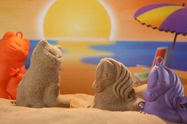 3D Sandfiguren 2er Set Pony & Katze
