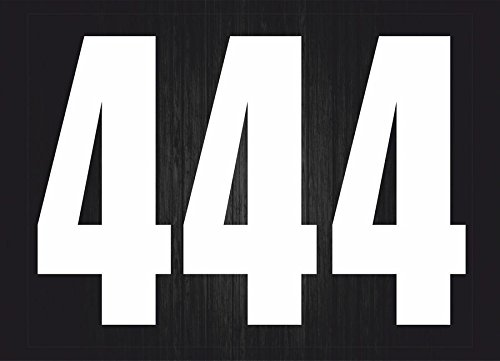 Set 3x Autocollant sticker voiture moto porte numero nombre chiffre course 1 noi