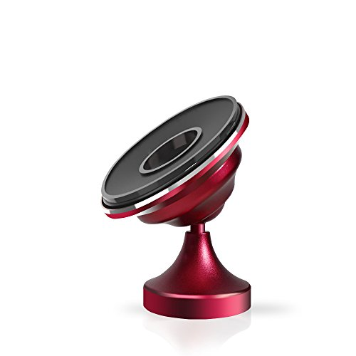 UltraSlim Non-Magnetic Cell Phone Holder | Dashboard Mount | Universal Design Patented by Phreilend for iPhone 7 / 6 / 5 Galaxy S7 / S6 (Red) Non-touch-bundle