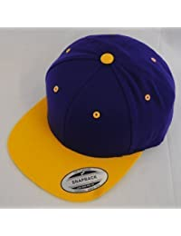 New Yupoong Two-Tone Flat Peak Snapback Baseball Cap