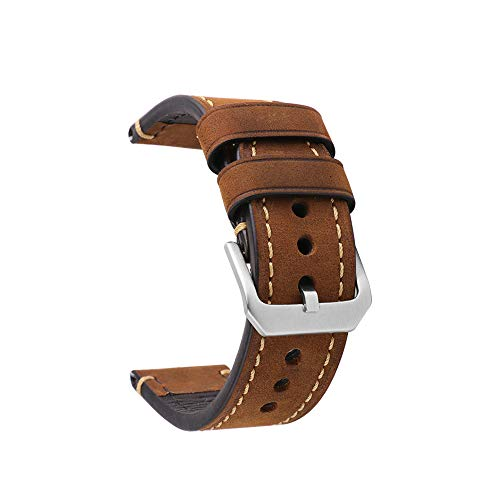 Cinturino orologio da polso uomo panerai ricambio in vera pelle con fibbia in acciaio inossidabile adatto per accessori da orologio ricambio 22mm marrone