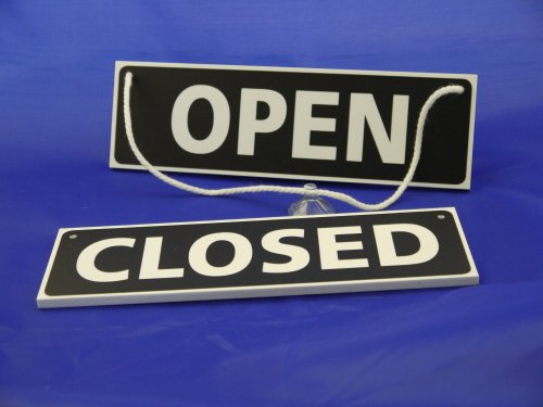 Douglas Design - Targa da appendere con scritta: Open/Closed