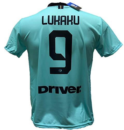 DND de Andolfo Ciro Segunda Camiseta Inter Verde Agua Lukaku 9 Fútbol réplica autorizada 2019-2020...