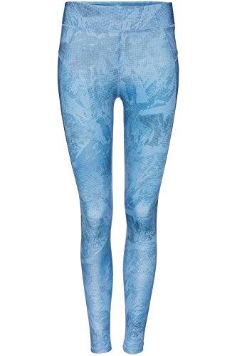 FIND Leggings Sportivi con Stampa Donna Blu (Graduated Pixel Print Aop)