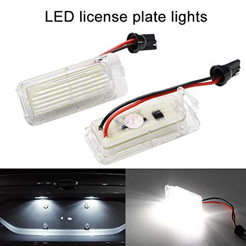 Liamostee - 2 luci a LED allo Xeno per Targa, per Ford Fiesta, Focus, Mondeo, Colore: Bianco