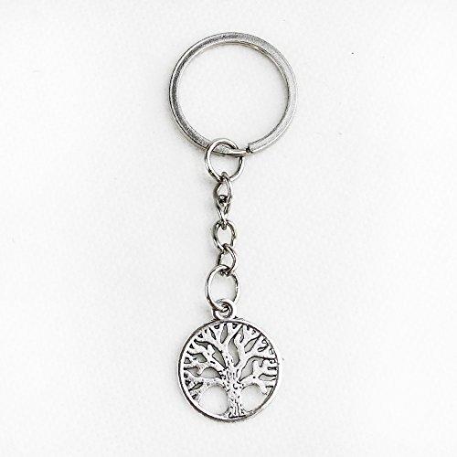 Dlm26610 (kit 12 pezzi) portachiavi ciondolo in metallo albero della vita confettata segnaposto bomboniera