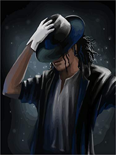Malen nach Zahlen Kit Diy Ölgemälde Kit für Kinder und Erwachsene - Michael Jackson 16