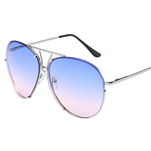 Avoalre Gafas de sol aviador Gafas Polarizadas Hombre Azul de Moda de Estilo Espejo Cuadrada UV400 Marco Inoxidable Lente TAC PL… FPO1qoq
