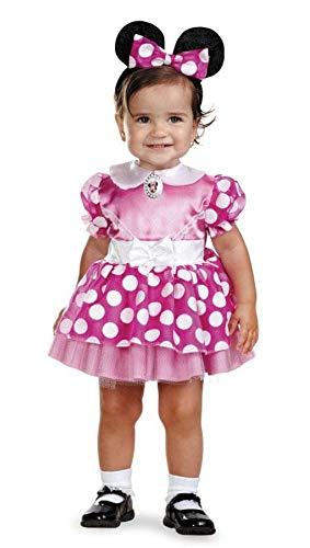 Horror-Shop Minnie Mouse Babykostüm 12 - 18 Monate - Disney Faschingskostüm für - Mickey Maus Und Pluto Kostüm
