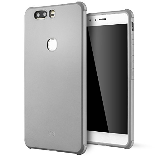 Huawei Honor V8 hülle,Lizimandu Case Für huawei honor v8 aus TPU Silikon - Handy Schutzhülle Cover(Grau/Gray)
