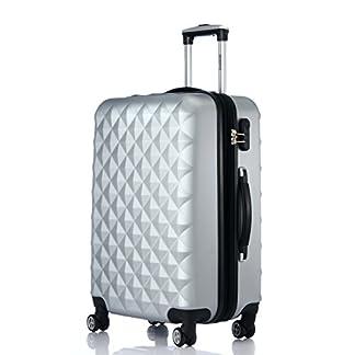 Ruedas gemelas 2066rígida Maleta Equipaje de viaje Maleta viaje para M de l de XL de Juego en 12colores, plata, extra-large