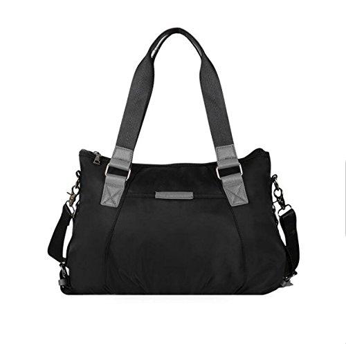 La Signora Femminile Sacchetto Di Nylon Moda Di Oxford Borse Di Stoffa Tela Big Bag Borsa A Tracolla Mobile Messenger Black