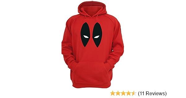 New Deadpool PULLOVER Men/'s Marvel Sided Hoodie Hooded Sweatshirt KIDS /& ADULTS
