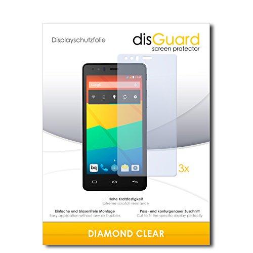 3 x disGuard® Schutzfolie BQ Readers Aquaris E5 LTE Bildschirmschutz Folie