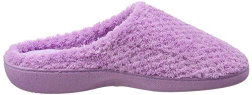 Isotoner Damen Ladies Popcorn Mule Slippers Pantoffeln Violett (Flieder)