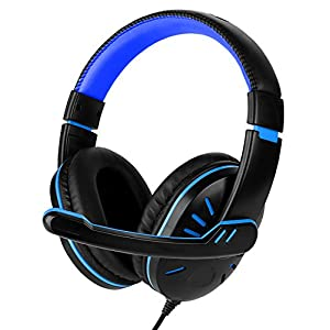 Fosmon Gaming Kopfhörer/Audio Stereo Headphone/Verdrahteten Gamer Headset Over Ear[Verstellbar mit Mikrofon…