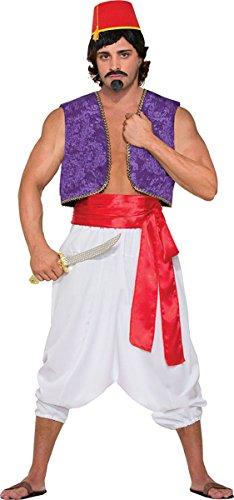 Herren Sultan Aladdin Genie Party Kostüm Wüste Prinz weiß Hose - Weiß, One (Herren Sultan Kostüm Für)