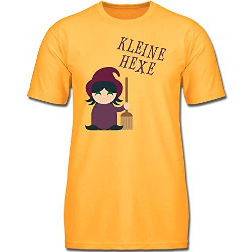 Frechen Kostüm Mops - Halloween Kind - Kleine Hexe süß - 104 (3-4 Jahre) - Gelb - F130K - Jungen Kinder T-Shirt