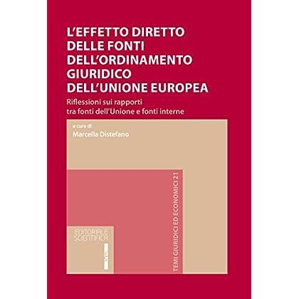 L'effetto Diretto Delle Fonti Dell'ordinamento Giuridico Dell'unione Europea. Riflessioni Sui Rapporti Tra Fonti Dell'unione E Fonti Interne