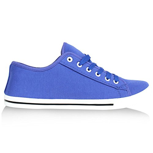 Herren Sneakers Schnürer Sportschuhe Stoffschuhe Blau