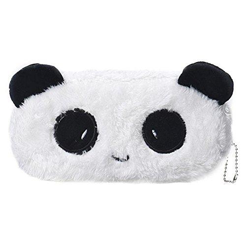 Cdet Federmäppchen Panda Mäppchen Pen Pocket-Bag Tiere Plüsch Stifte Tasche Karte Schreibwaren Handtasche Kosmetik Makeup Bag 20 * 10 * 2cm (Bett Plüsch In Tasche Ein)