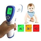 KETOTEK Termometro Bambini Febbre Digitale Termometri Infrarossi per orecchio e fronte Febbre Medico Senza contatto (Blu)