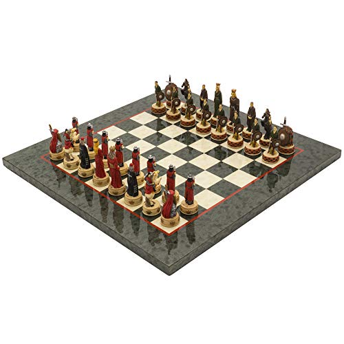 The Regency Chess Company Ltd England vs Scotland handbemalt stilisiert Luxus Olive Schach festgelegten italfama