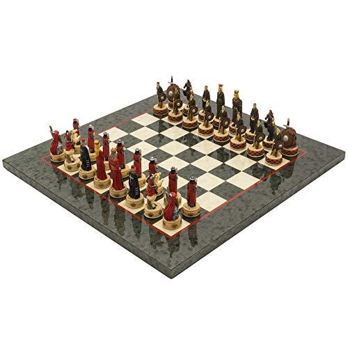 The Regency Chess Company Ltd England vs Scotland handbemalt stilisiert Luxus Olive Schach festgelegten italfama -