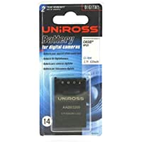 Uniross VB102763A Batterie pour appareil photo Casio NP-20 630 mAh 3,7 V