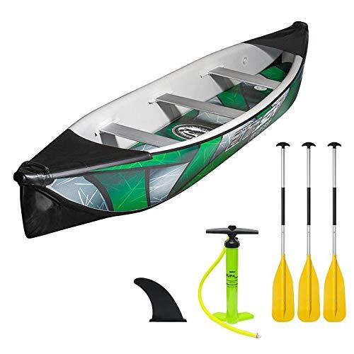 ExtaSea Ds Iii 488 Kanu 3er Full Drop-Stitch Hochdruck Luftkanu Schlauchboot Set, grün