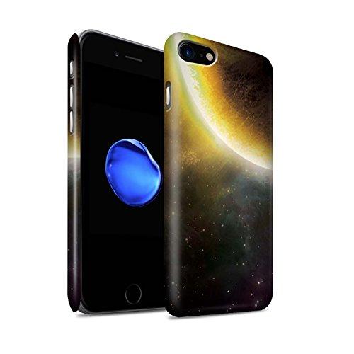 STUFF4 Matte Snap-On Hülle / Case für Apple iPhone 7 Plus / Lila Planet Muster / Weltraum Kollektion Gelb Finsternis