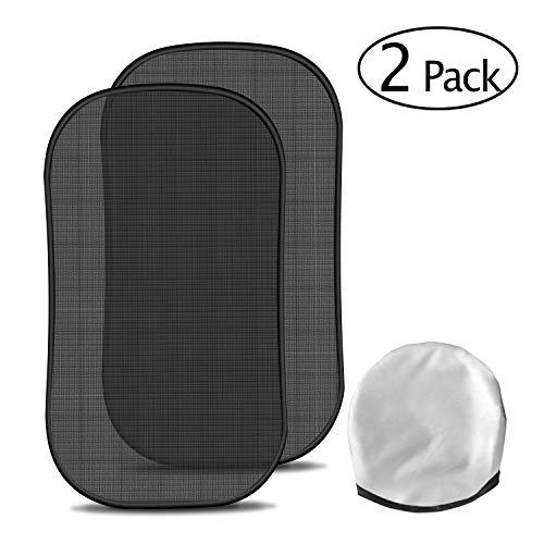 Auto-Sonnenschutz, 2tlg. Set Universal Seitenscheibe Heckscheibe Sonnenblende in schwarz für Kinder Car