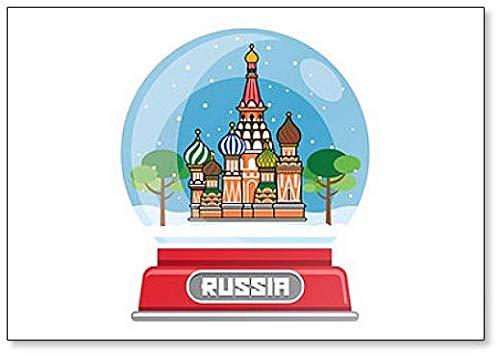 Russische Schneekugel Kühlschrankmagnet Travel