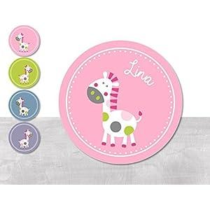 Namensaufkleber • Pferdchen Lotta weiß • 24/120/240 Stück (N27) 4 Farbvarianten zur Auswahl - kunterbunte Aufkleber vom Papierbuedchen