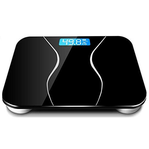 RTC Aufladungs-elektronische Skala-wiegende Skala-Haushalts-Gesundheits-Erwachsene Verlieren Gewichts-Skalen Tragendes 180KG (Farbe : Schwarz)