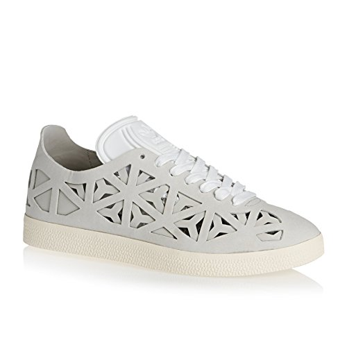 adidas Damen Gazelle Cutout Sneaker Weiß (Footwear White/Footwear White/Cream White)