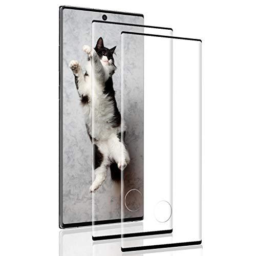 DOSNTO Vetro Temprato Premium Doppia Difesa Serie per Samsung Galaxy Note 10 Plus HD Alta Trasparenza Senza Bolla - Pellicola Vetro Samsung Galaxy Note 10 Plus 2 Pezzi