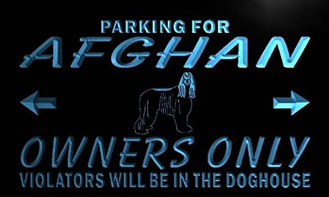 Enseigne Lumineuse n097-b Afghan Hound Owners Only Neon Light Sign
