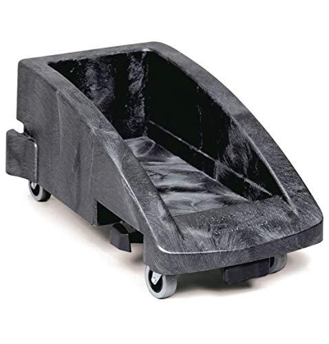 Rubbermaid Transportroller mit Fußpedal, Fahrgestell für Slim Jim Container 60 l und 80 l, erweiterbar, schwarz (Rubbermaid Slim Jim Mülleimer)