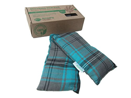 heat-pack-cotton-tartan-microwave-wheat-bag-46cm-long-unscented-turquoise