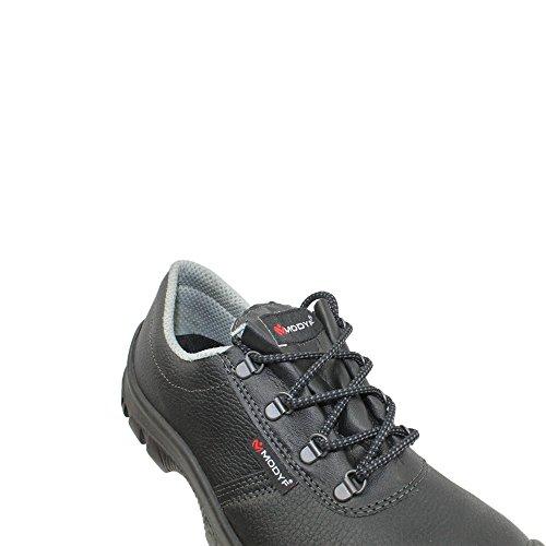 Modyf bauhalbschuh pro uK chaussures de sécurité norme s3 sRC chaussures berufsschuhe businessschuhe plat noir Schwarz